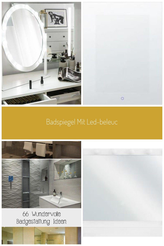 Badspiegel Mit Led Beleuchtung Oval 50 X 60 Cm Rostrenen Badezimmer Beleuchtung Spiegel In 2020 Badspiegel Mit Led Beleuchtung Badspiegel Led Badspiegel
