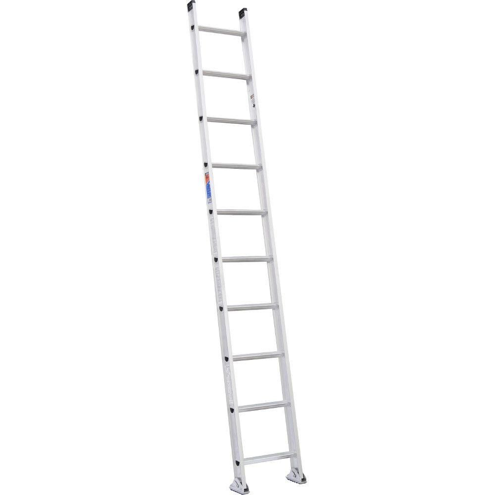 Werner 10 ft  Aluminum D-Rung Straight Ladder with 300 lb