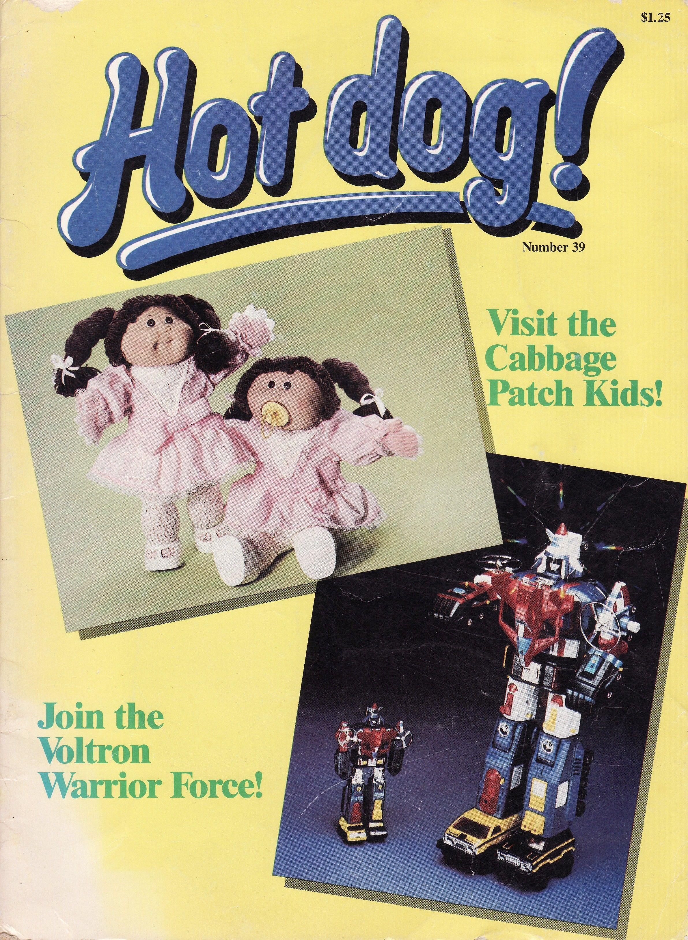 1986 Hot Dog Magazine Issue Cabbage Patch Kids Dog Magazine Kids