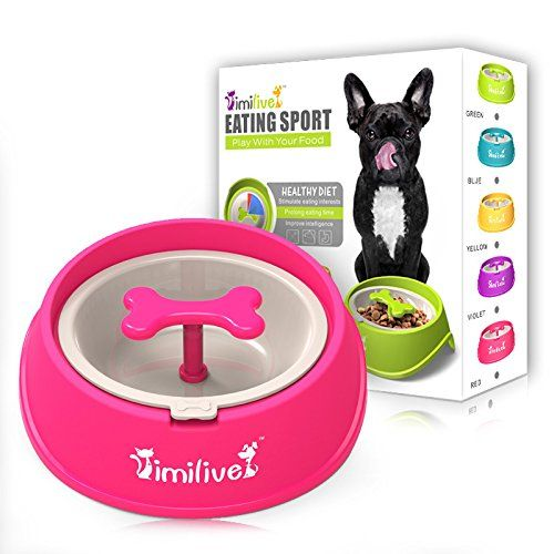 design anti choke pet bowl slow eating drink bowls healthy prevent choking gluttony obesity puzzle feeder pet dogs cats for more information v