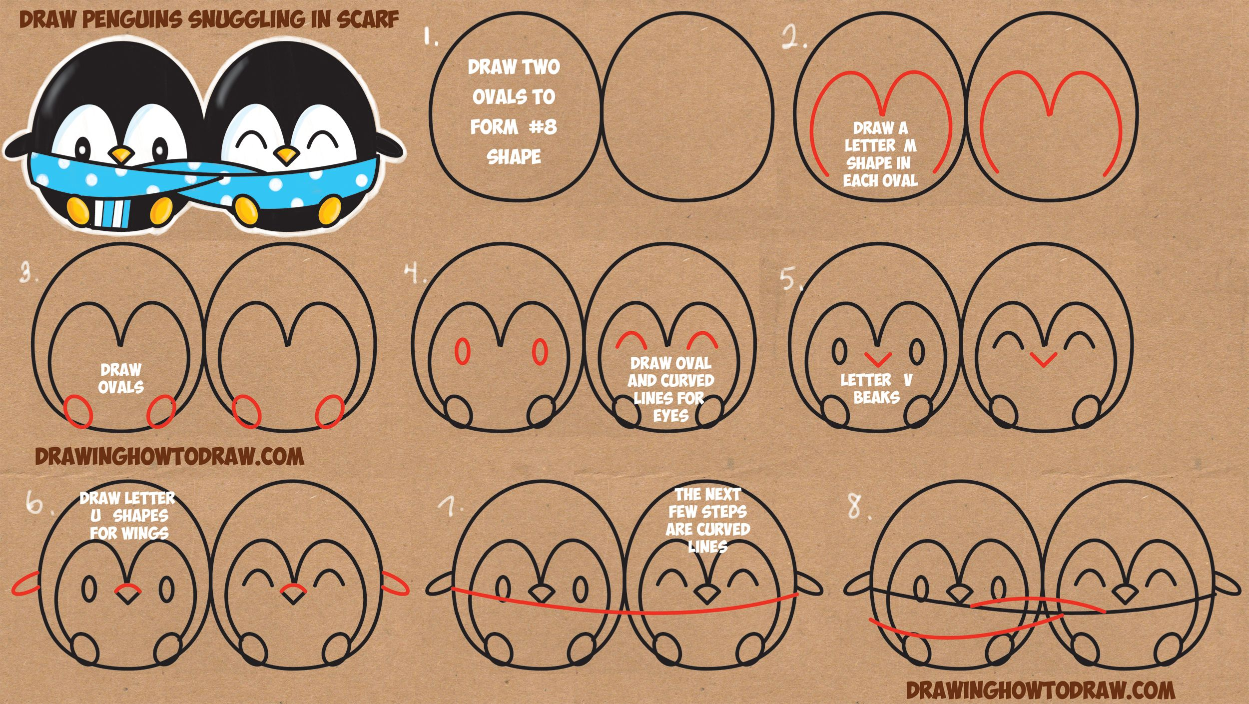 how to draw chibi scarf