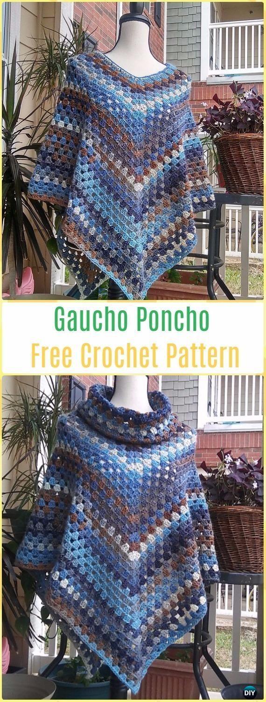 Crochet Women Capes & Poncho Patterns & Tutorials
