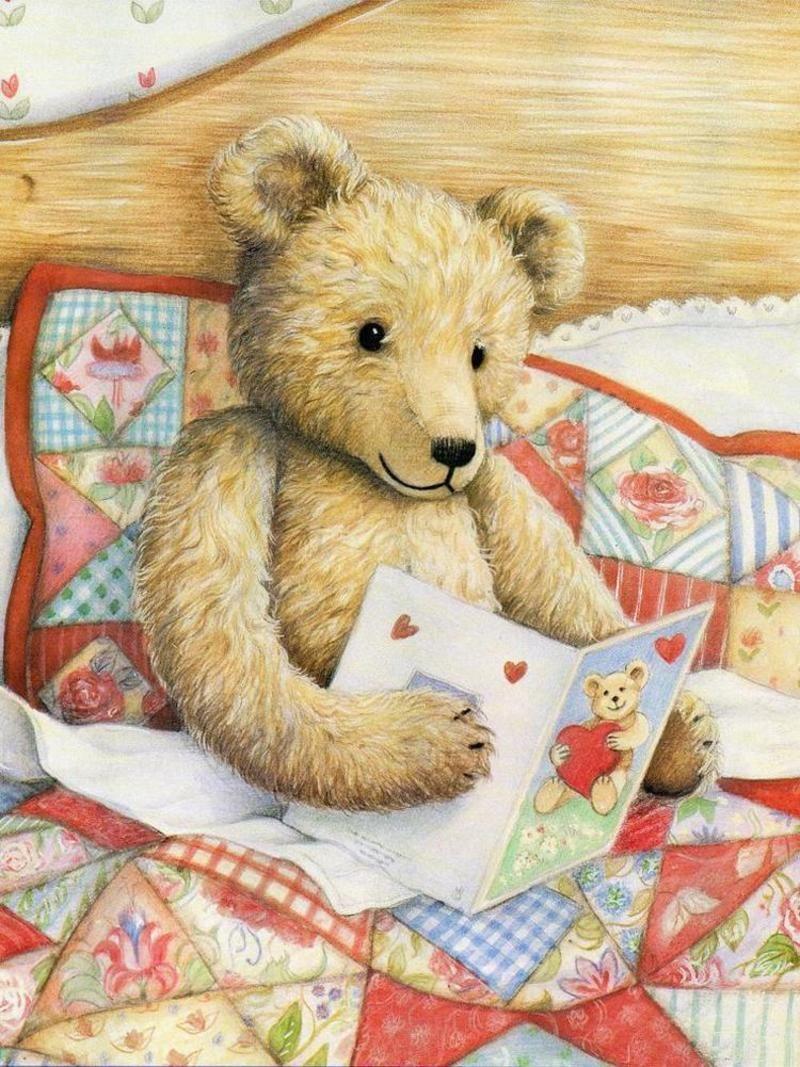 маленьких картинки медвежат для декупажа успехом использовать