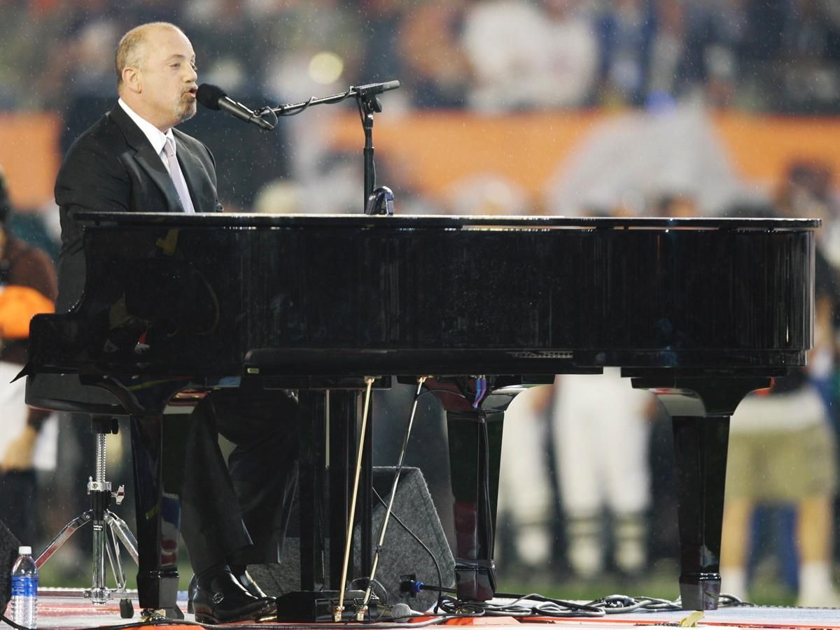 In 2006, Joel began a tour across the United States including an unprecedented 12 sold-out concerts over several months at Madison Square Garden. Here Joel is pictured performing the national anthem prior to the Super Bowl XLI football game at Dolphin Stadium in Miami on Feb. 4, 2007.