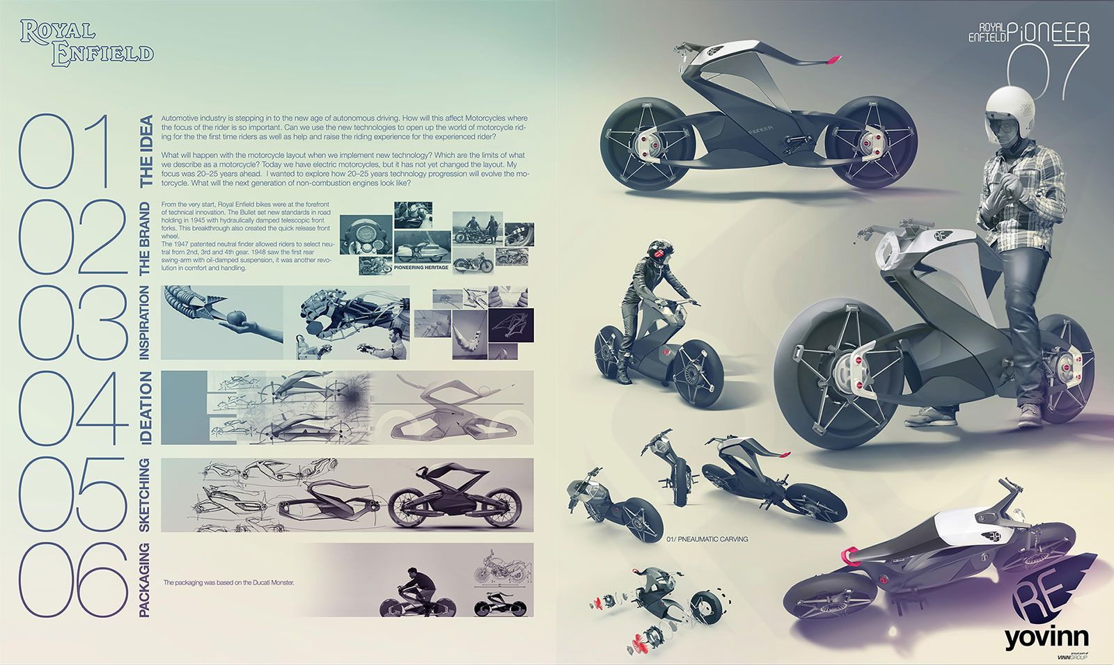 Quick poster design - Royal Enfield Pioneer By Daniel Gunnarsson Design Poster