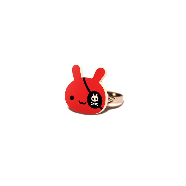Cute Plush - Pirate Bunny ring ($5) ❤ liked on Polyvore
