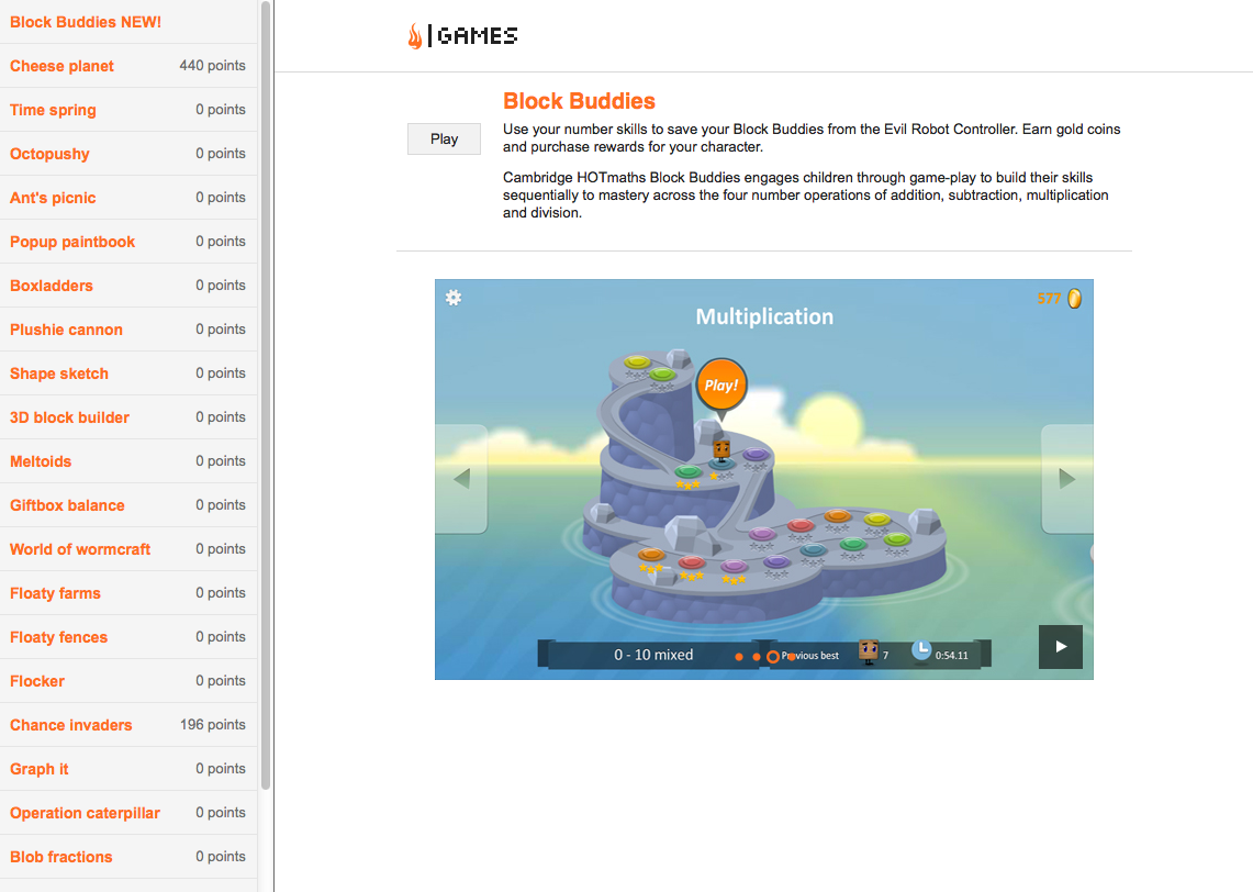Games Library, Cambridge International Maths Online: a comprehensive ...