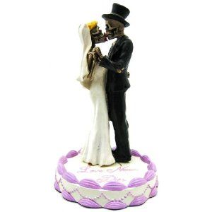 halloween wedding cake toppers | Halloween Skeleton Wedding Cake Toppers