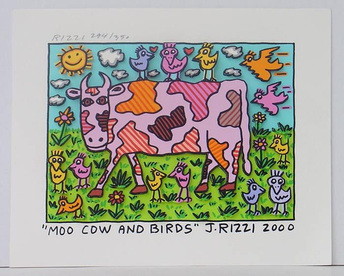 James Rizzi Moo Cow And Birds Gtk At Kunst Am Tulbinger Kogel Kinder Kunst Kunst Kunstideen