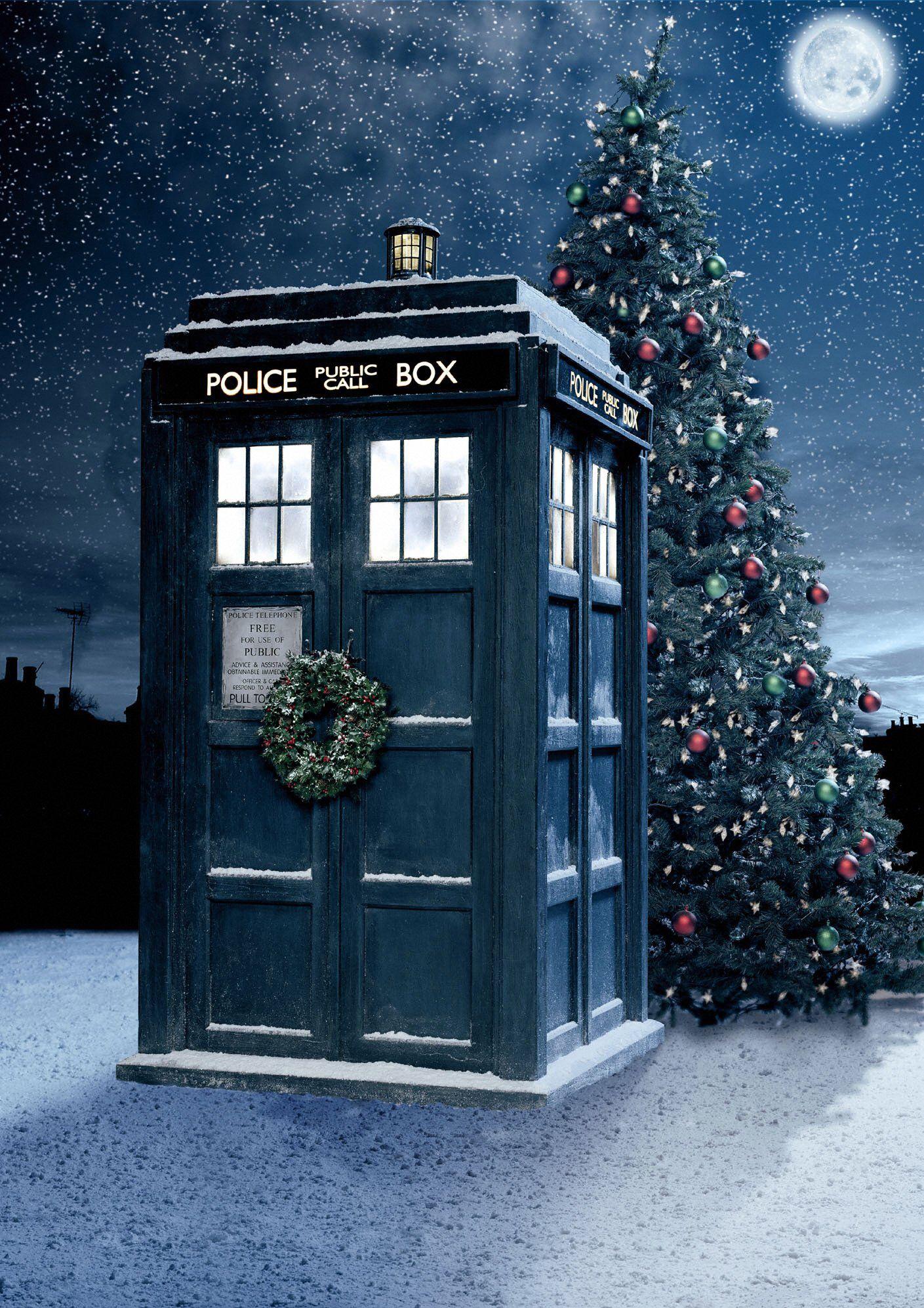 Police call box Xmas Christmas Pinterest