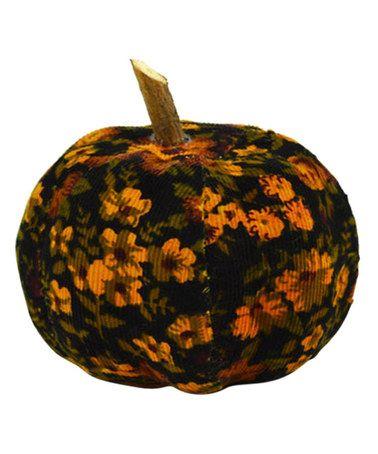 Another great find on #zulily! Floral Corduroy Pumpkin #zulilyfinds