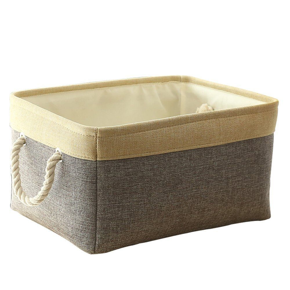 Thewarmhome Grey Patchwork Fabric Foldable Storage Cube For Toys With Cotton Rope Handles 16 12 8 Inch Visit The Image Link More Det Toy Storage Cubes Linen Baskets Cube Storage