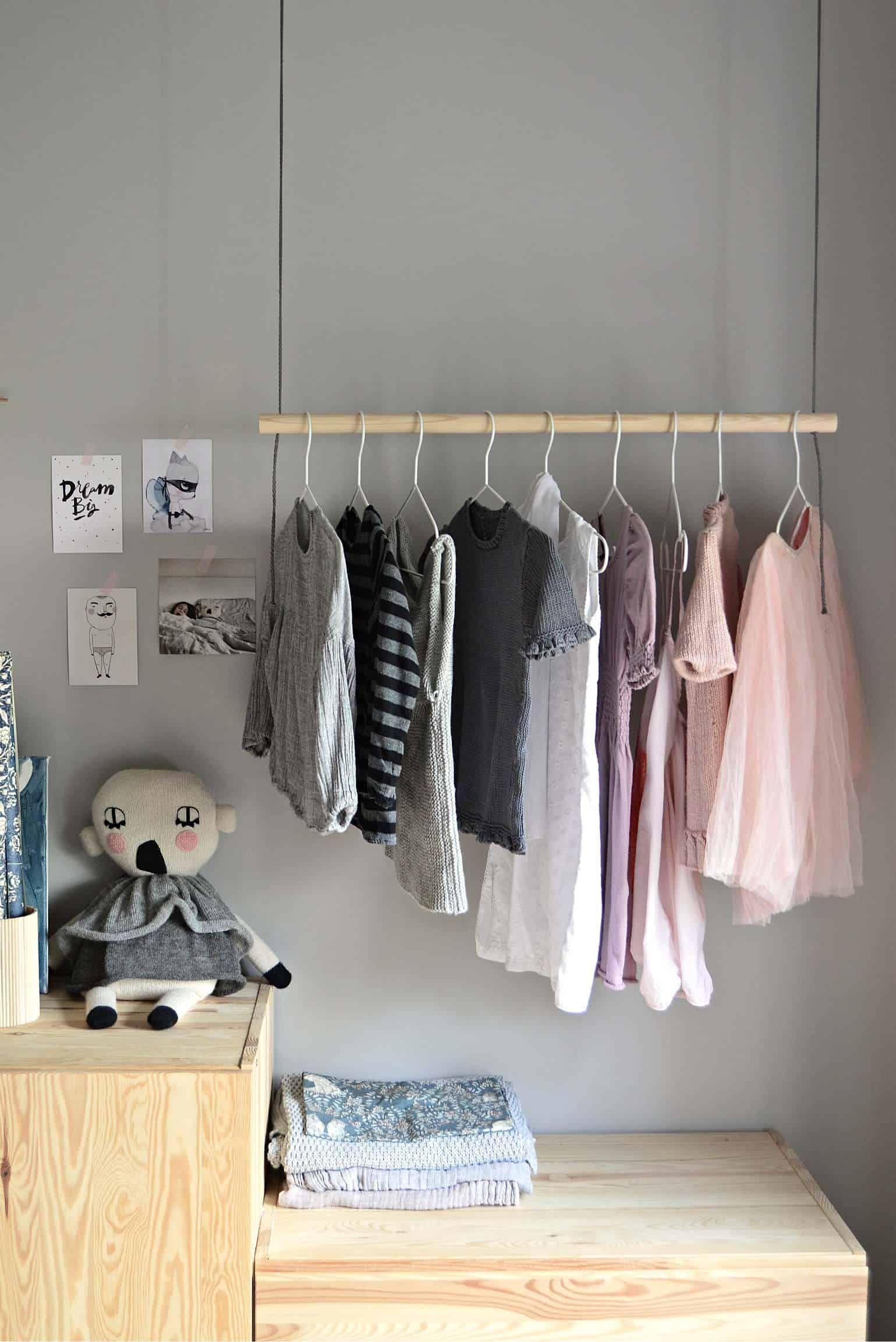 22 DIY Clothes Racks in 2020 Organize Your Closet