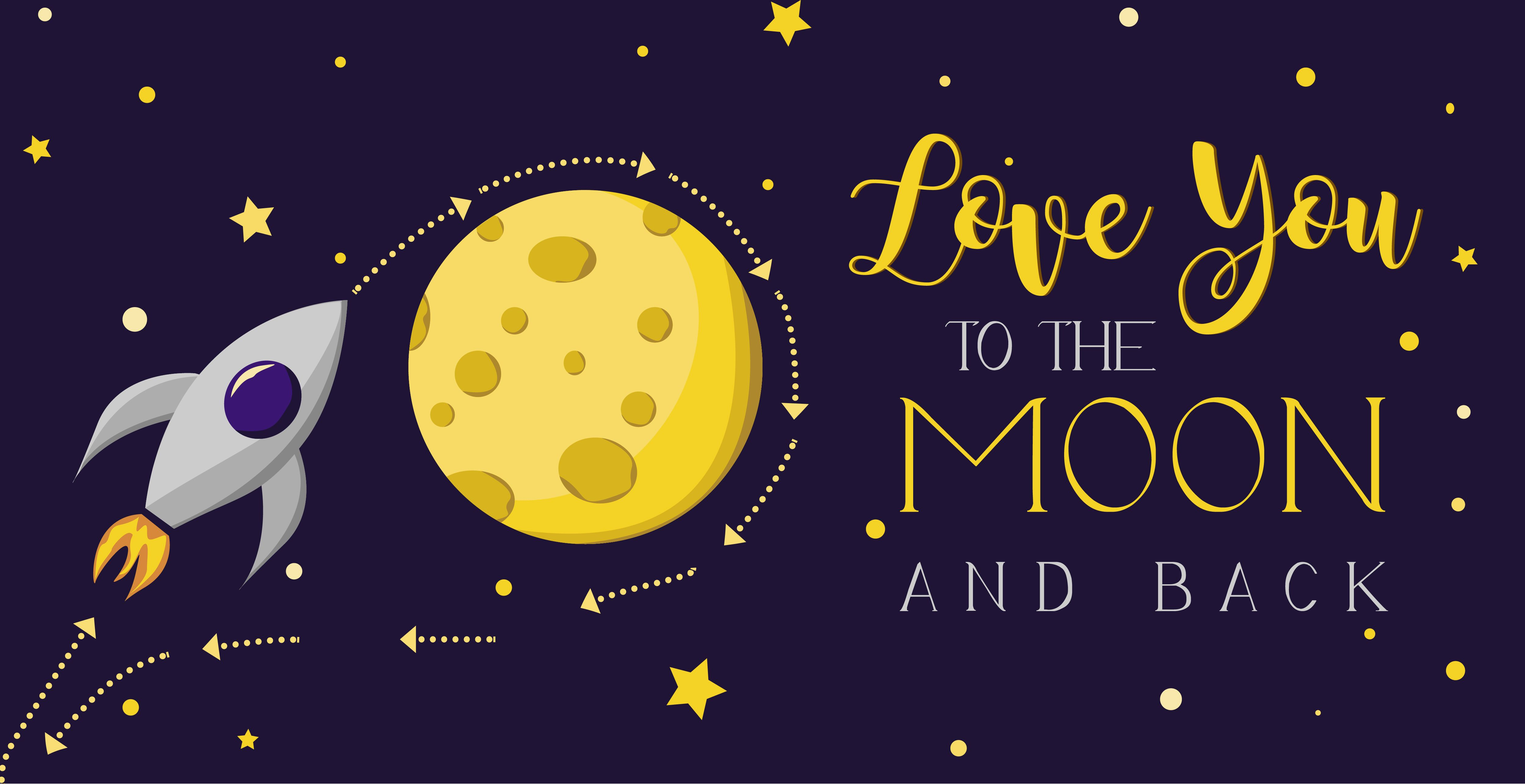 Love you to the moon and back gift card valentines day