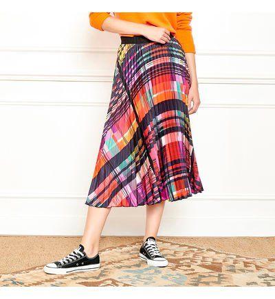 Mkt Studio Jupe mi-longue � carreaux JIA Jupes Multicolore L 100% Polyester