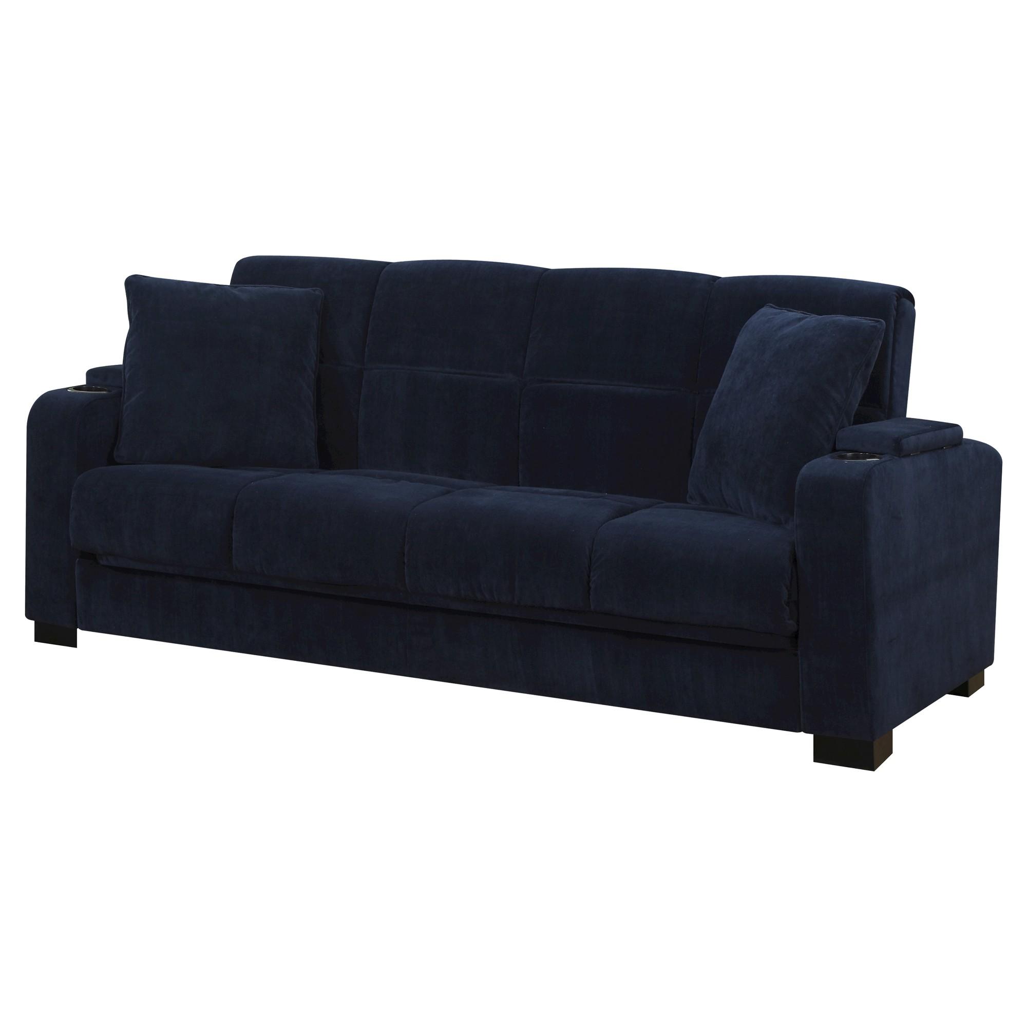 Susan Storage Arm Convert A Couch Navy Blue Velvet Handy