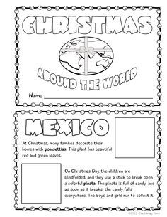 Christmas Around the World Mini Book Activity | Book projects and ...