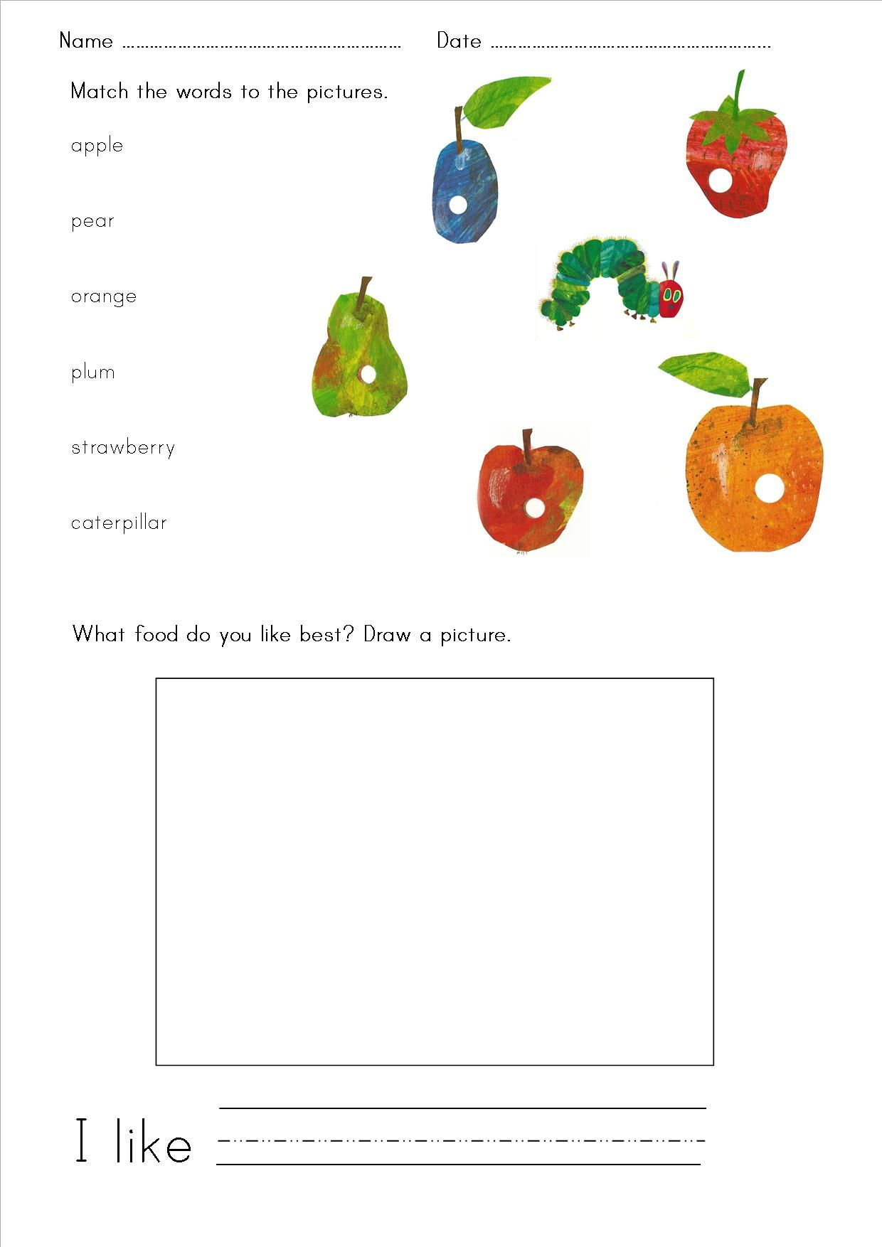 the very hungry caterpillar hungry caterpillar worksheets and