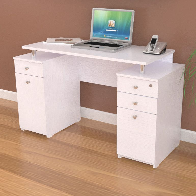 Desk With Locking File Drawer Cabinet Office Desks Features Contemporary Design Metal Glides Pedestal Has