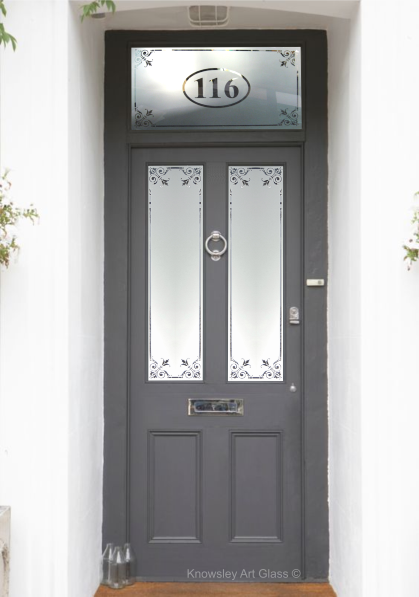 Etched Glass Panel Front Door Exterior Doors With Glass Victorian Front Doors Glass Front Door