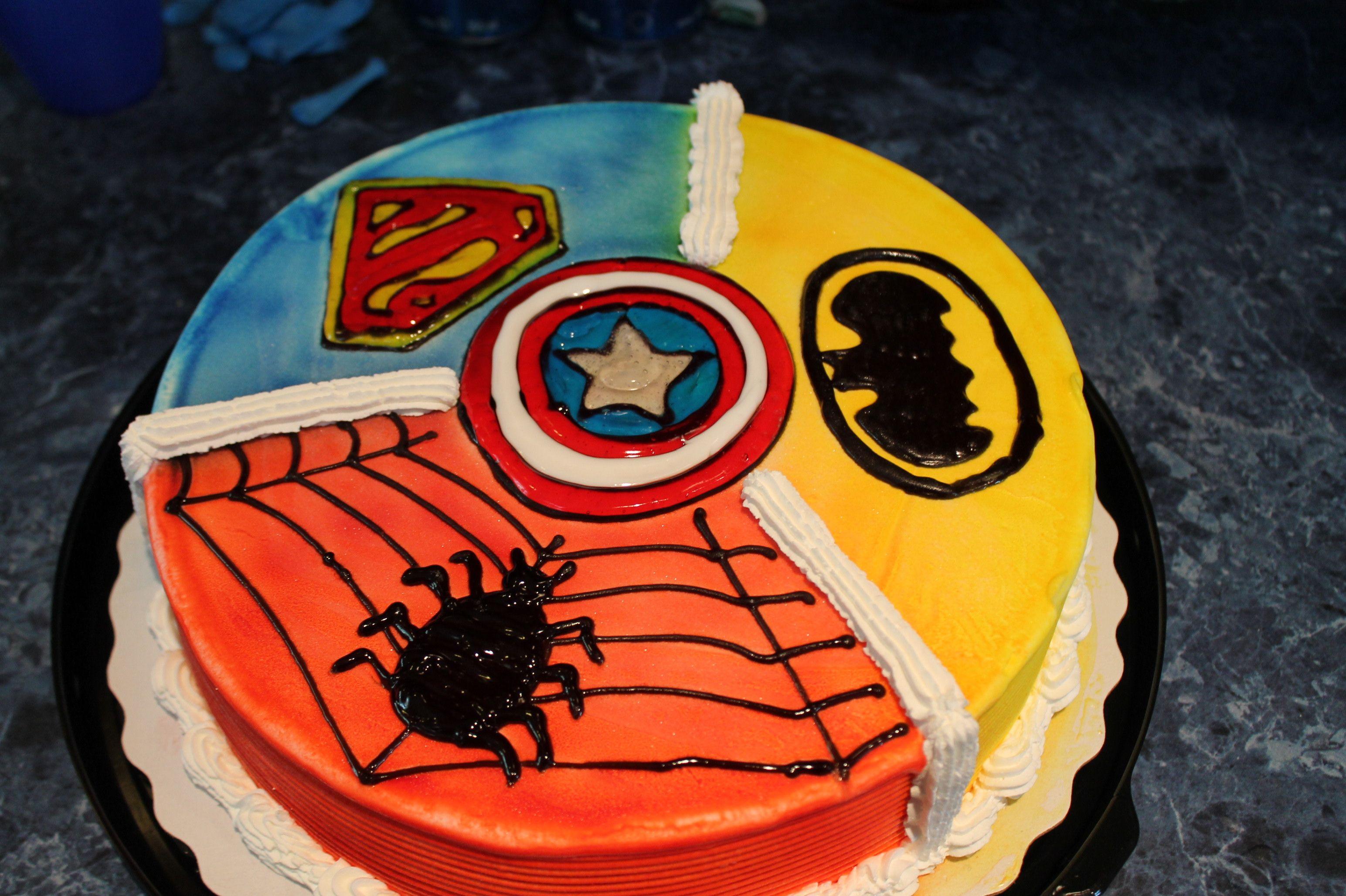 Superhero Party Dq Ice Cream Cake Ice Cream Cake Pinterest