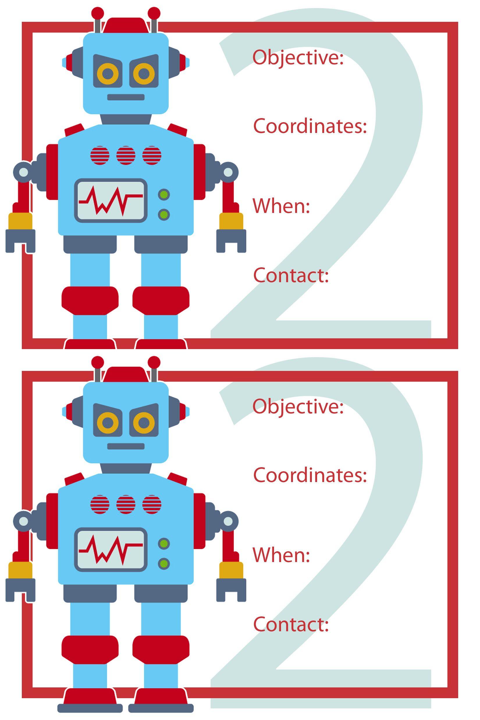 Robot Birthday Party Robot Bday Birthday Invitations Birthday