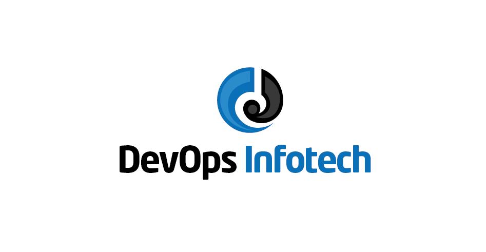Devops Infotech Logo Logo Design Logos Tech Company Logos