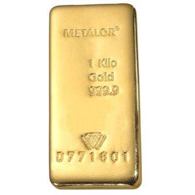Gold 1 Kg Metalor Bar Gold Money Gold Gold Bar