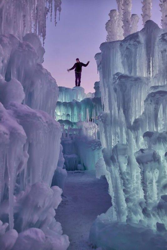 Ice Castle in Silverthorne, Colorado | Live in Denver | Explore Colorado | Ice Climbing in Colorado #beautifulplaces