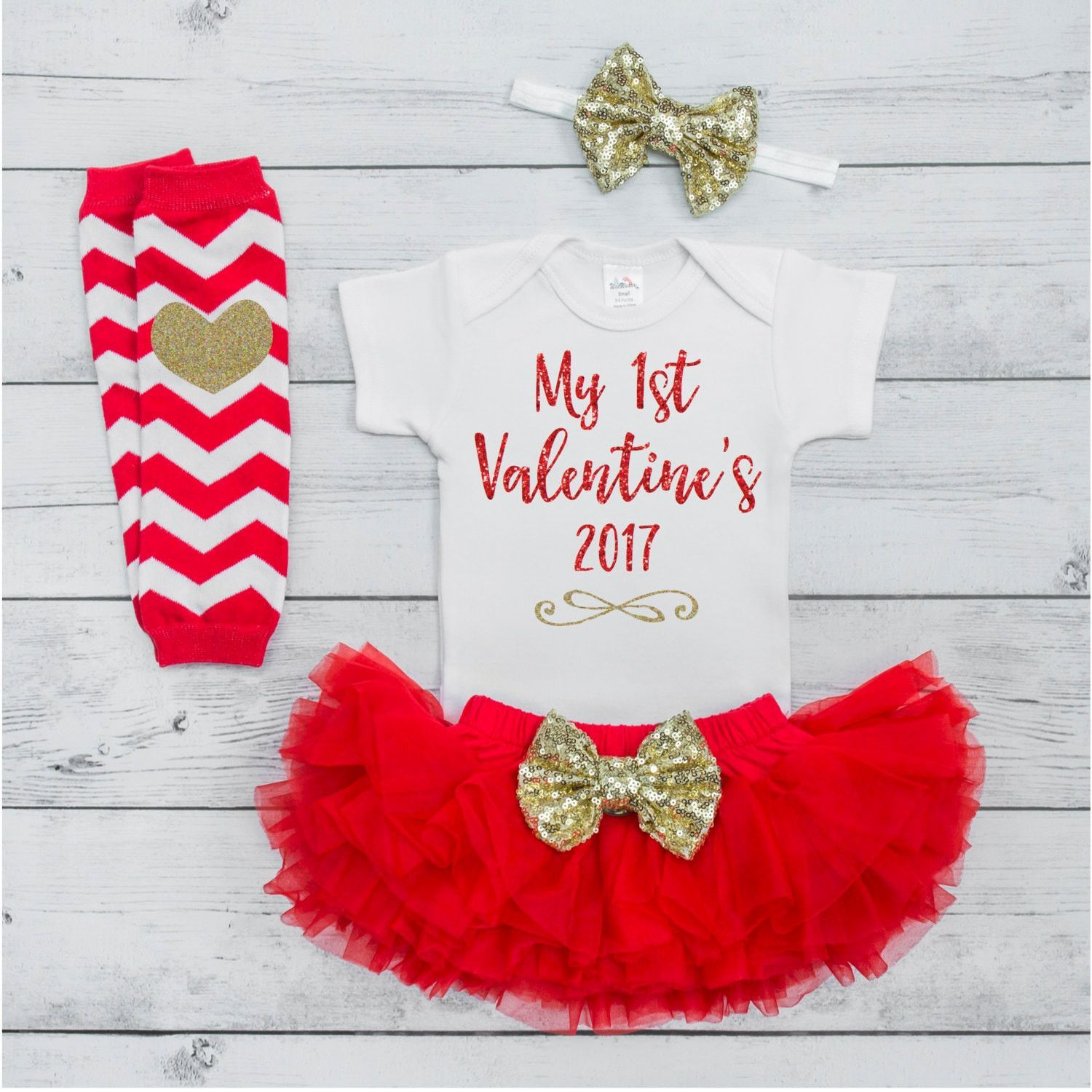 Newborn Valentine's Day Outfit Baby Girl Valentine's Outfit 1st ...