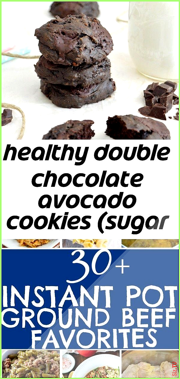 Healthy double chocolate avocado cookies sugar and dairy free  a vegan version 2  Healthy  Easy Gro