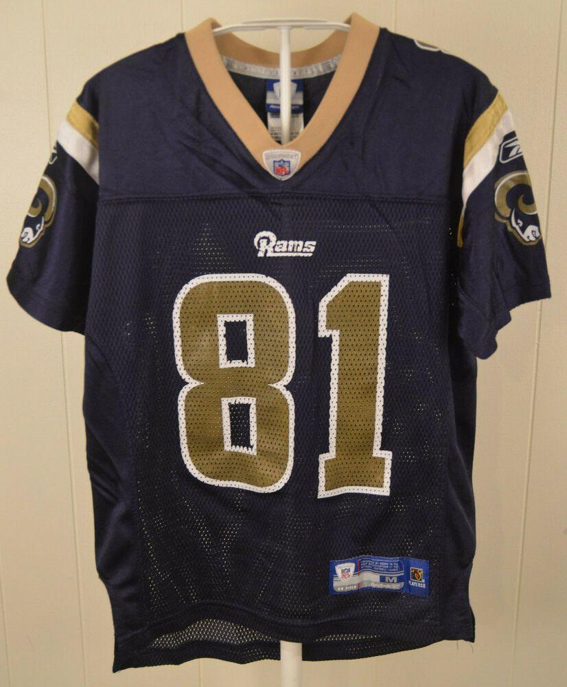 f45a9482e Reebok St. Louis Los Angeles Rams Jersey Torry Holt Football NFL Youth  Medium 10-12 Blue LA  Reebok  StLouisRams