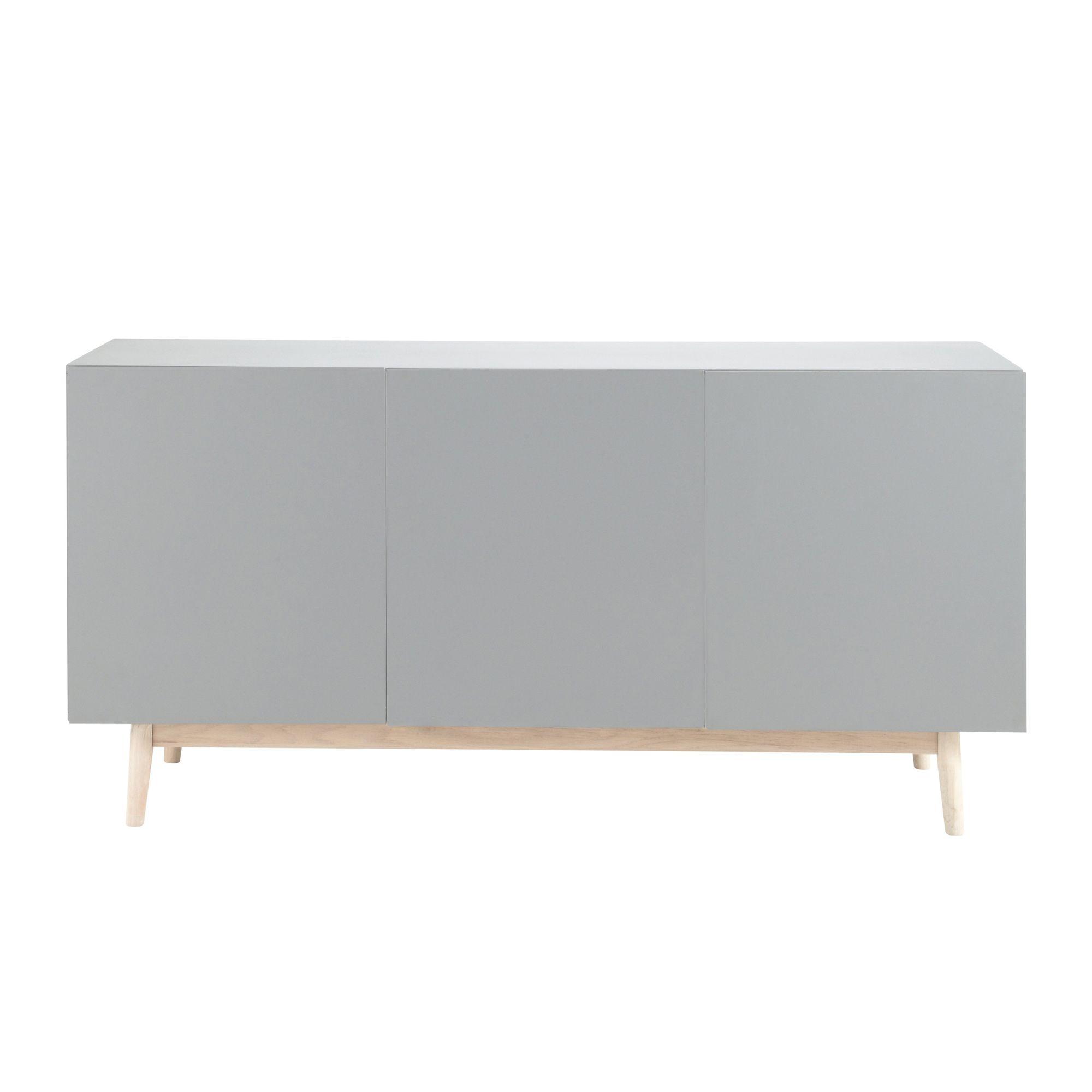 Wooden Vintage Sideboard In Grey W 160cm Artic Vintage Sideboard Sideboard Grey Sideboards Living Room