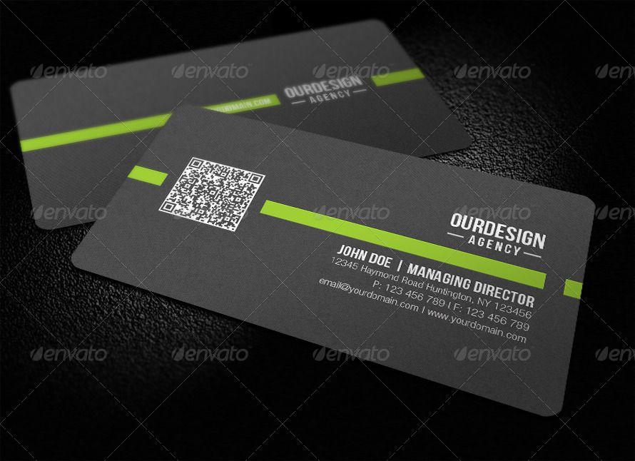Rounded Corner Qr Code Business Card Ad Qr Affiliate Corner