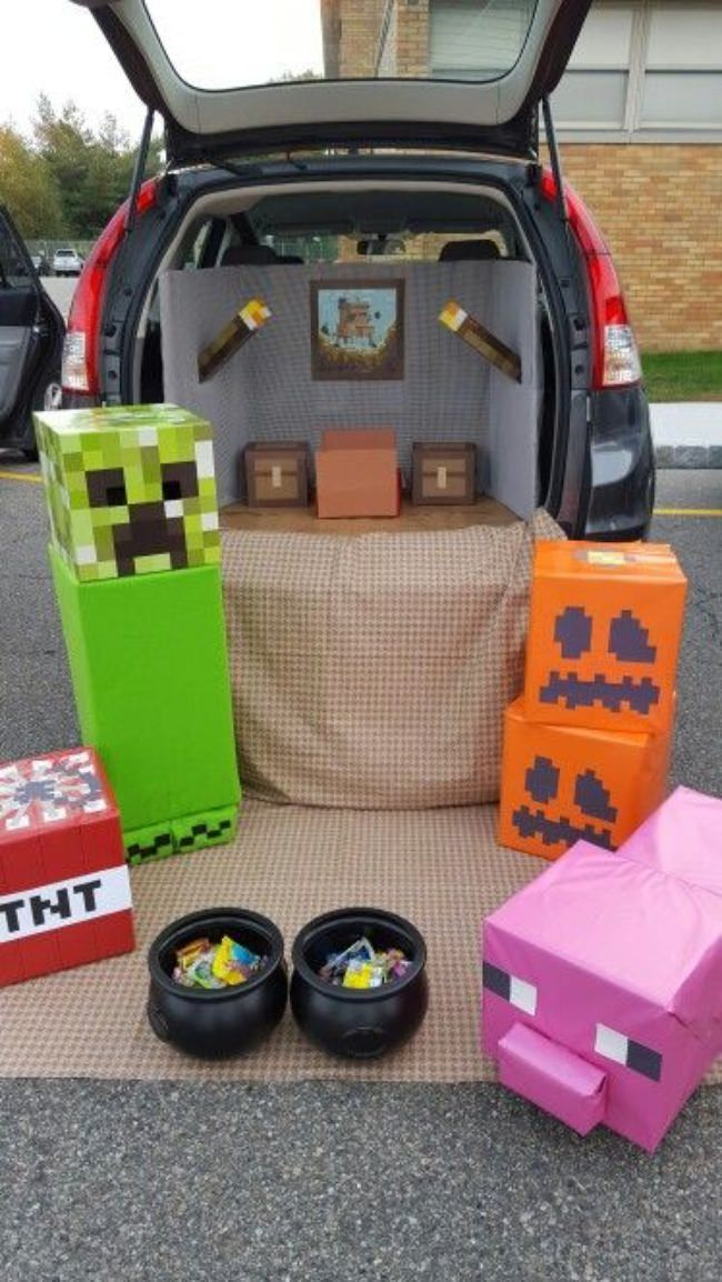Mine20Craft20Theme Halloween Pinterest Trunk or treat - halloween trunk or treat ideas