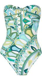 Emilio Pucci Printed bandeau swimsuit  550  5dbff7ff811