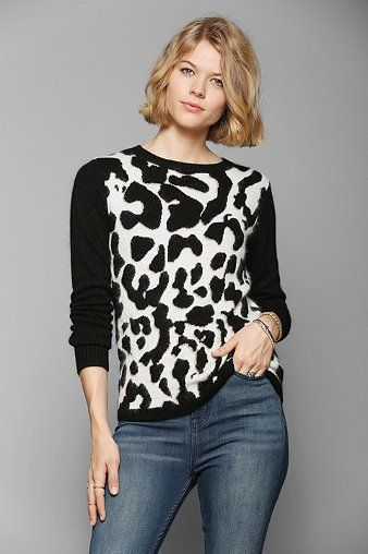 Glamorous Leopard Sweater - Urban Outfitters