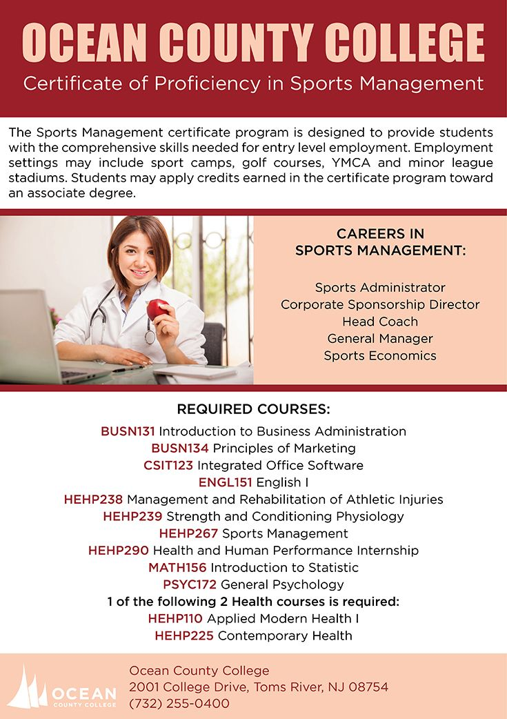 Certificate of Proficiency in Sports Management (With