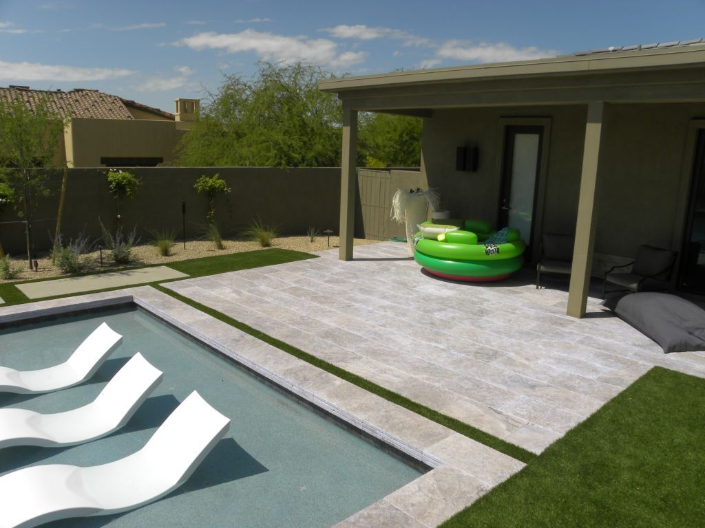 silver travertine paver 16x24 tumbled 13 gray white outdoor floor rh pinterest com