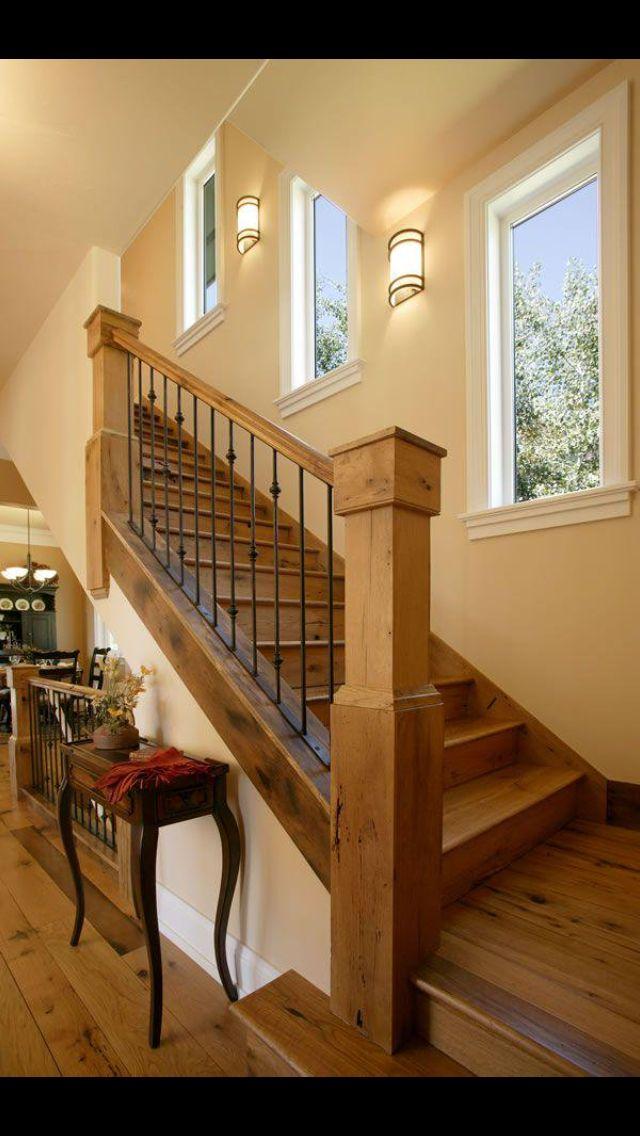 Home more escaleras pinterest escalera gradas de for Gradas de madera para escaleras