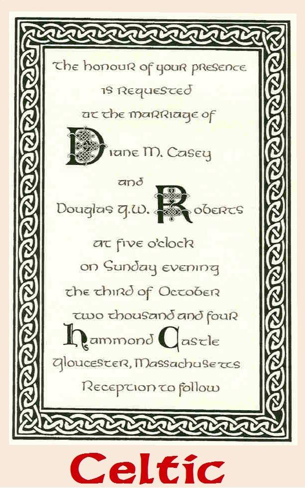 Wedding Vows Invitations   Celtic wedding, Renaissance ...