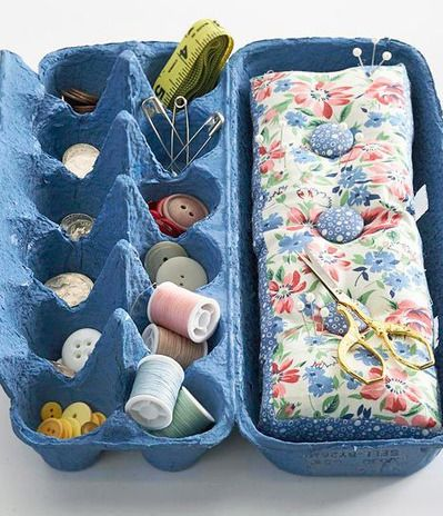 Make a pretty sorting organizer from an egg carton. Dress it up with a quick coat of spray paint and fill it with all those little things th...
