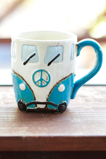 Blue Peace Wagon Ceramic Mug
