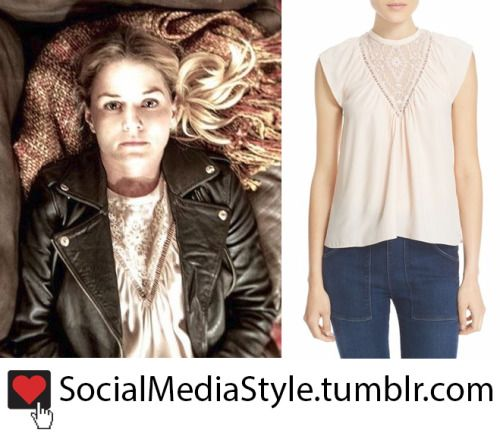 """Buy Jennifer Morrison's """"Once Upon a Time"""" Embroidered Silk Top, here!"""