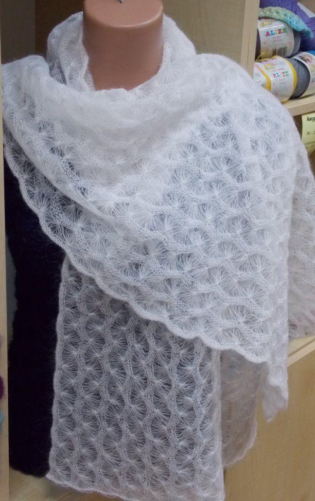 вязание крючком ажурные платки
