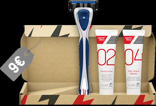 Nassrasierer-Set für 9 € | Starter Kit Go für die Reise und Einsteiger