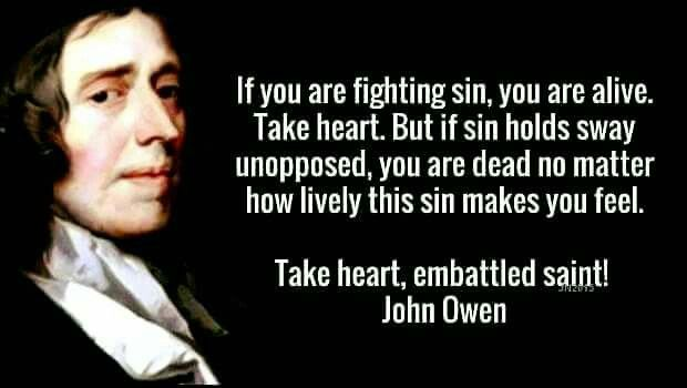 christian quotes | John Owen quotes | sin | assurance of salvation