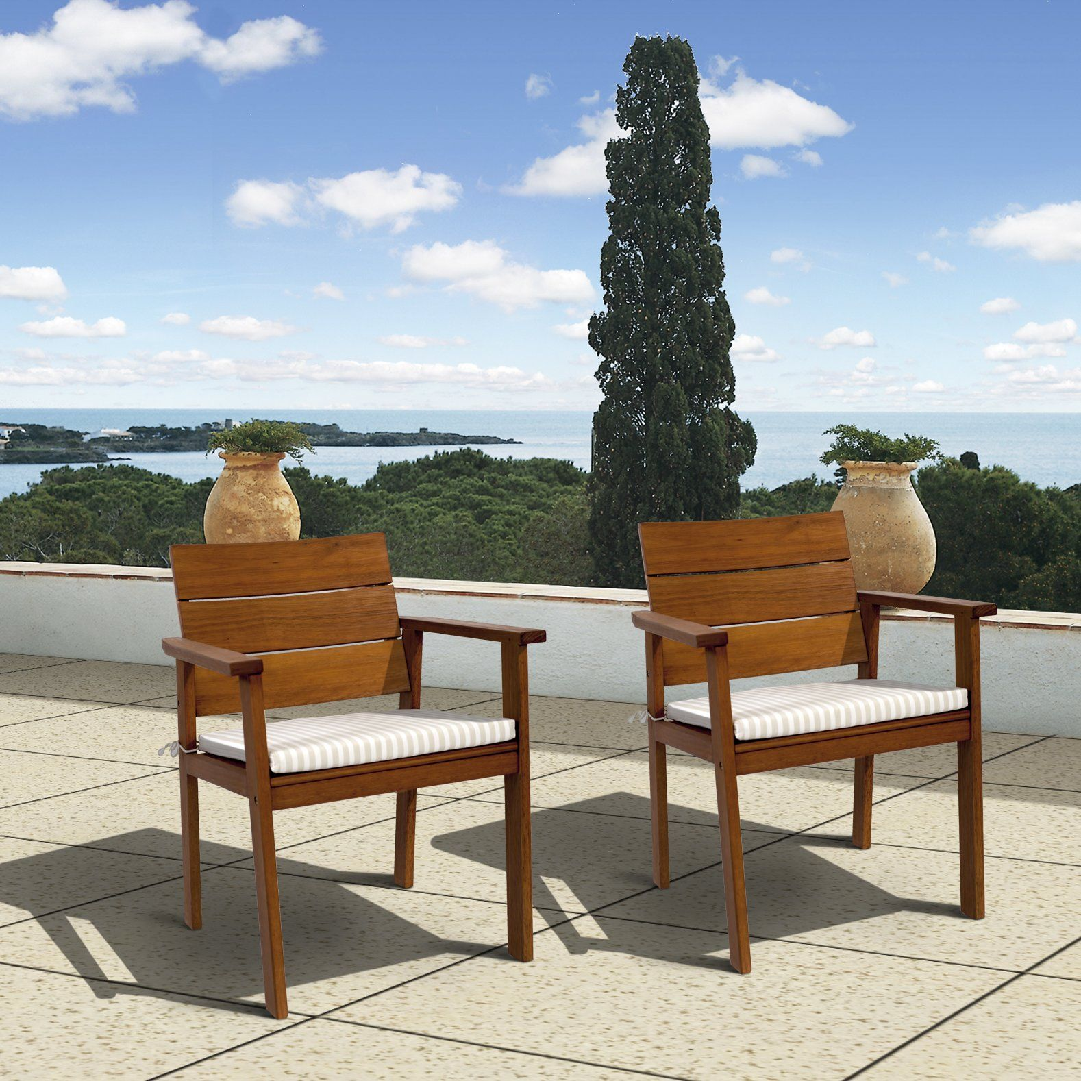 Beachcrest home elsmere dining arm chair patio dining