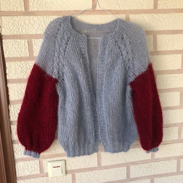 Fluffy Mohair cardigan Wool chunky cardigan Oversized cardigan Hand knit sweater Cable knit cardigan Bridal jacket Open front cardigan