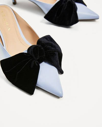 91da0c788ca HEELED MULES WITH BOW-View all-SHOES-WOMAN